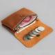 Mini carteira de couro Vintage